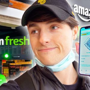 INSIDE THE AMAZON FRESH STORE IN LONDON (Leave without paying)