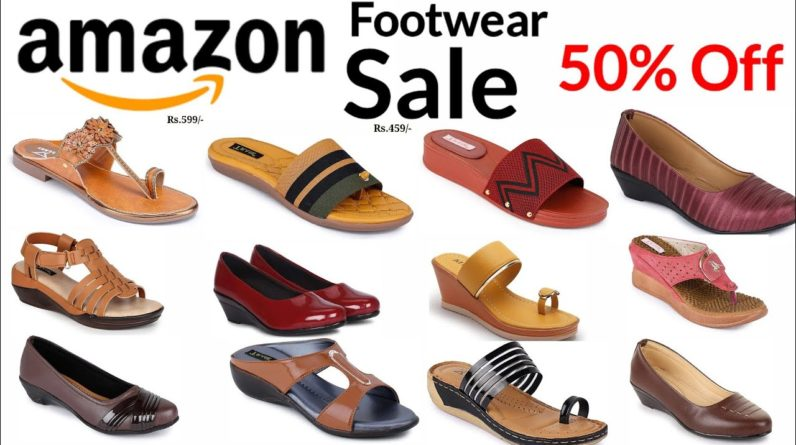 AMAZON FOOTWEAR SALE 50% OFF SHOPPING ONLINE LADIES SANDALS CHAPPAL DESIGN 2021 LOW PRICE