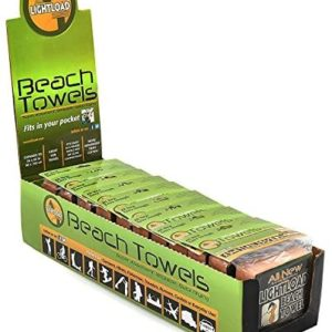 Lightload Towels Beach Swim Towels Quick Dry Large Compressed Durable Non Microfiber Packs in Your Pocket Super Absorbs Wickable Survival Bags Backpack Carry On 5oz 12 Pack Gift Box 36x60