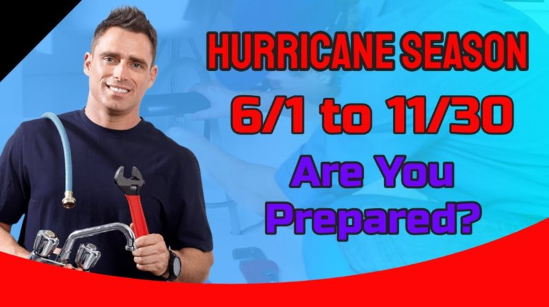 Are you prepared for a hurricane? The hurricane season starts on June 1 and ends November 30.