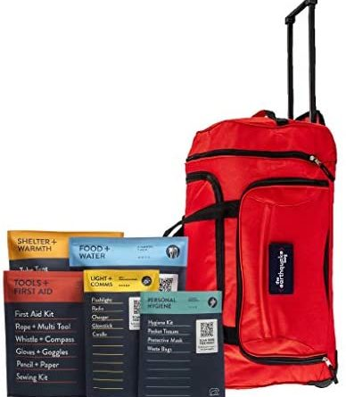 Complete Earthquake Bag – 1 Week of Emergency Supplies for Earthquakes, Hurricanes, Wildfires, Floods + Other Disasters