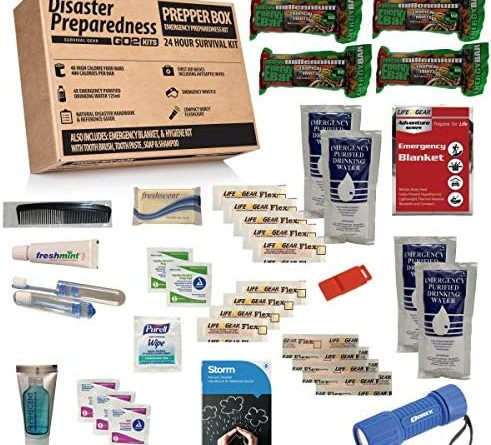 Go2Kits Disaster Preparedness Survival Kit 24 Hour Disaster Kit with Food, Water, Hygiene and First Aid (1 Pack)