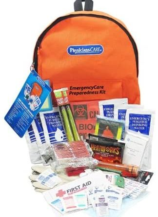 PhysiciansCare by First Aid Only by First Aid Only Emergency Preparedness First Aid Backpack, Contains 63 Pieces