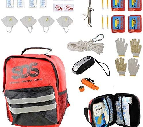 SDS 4 Person 72 Hour Emergency Kit, First Aid Kit Bug Out Survival Gear Emergency Survival Kit Earthquake Survival Kit