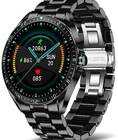 LIGE Smart Watch for Men, Fitness Tracker with Blood Oxygen, Blood Pressure, Heart Rate Monitor, 1.3 Inch Full Touch Screen IP67 Waterproof Smartwatch for Android iOS