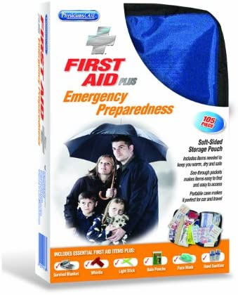 PhysiciansCare by First Aid Only Soft-Sided First Aid and Emergency Preparedness Kit, Contains 105 Pieces