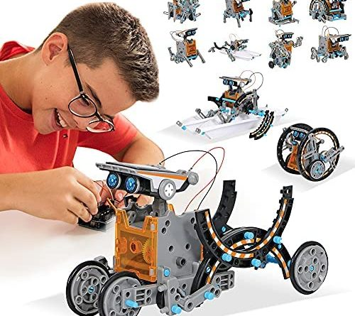 MAN NUO STEM Toys Solar Robot Kit 12-in-1 Educational Science Kits Toys|Learning Science Building Toys-Powered by Solar|STEM Toys Robot Science Kits for Kids 10-12 Year Olds Boys Girls Gifts