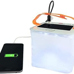 HTHN 2-in-1 Phone Charger Lanterns   Great for Camping, Hurricane Emergency Kits and Travel   As Seen on Shark Tank, Transparent