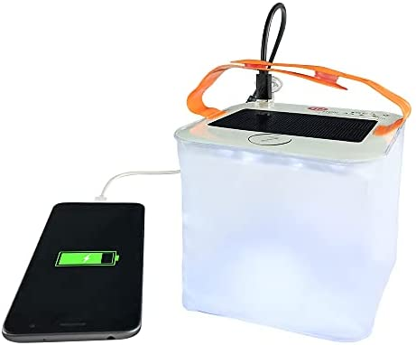HTHN 2-in-1 Phone Charger Lanterns | Great for Camping, Hurricane Emergency Kits and Travel | As Seen on Shark Tank, Transparent