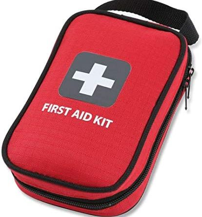 First Aid Kit – 100 Pieces – Bag. Packed with Hospital Grade Medical Supplies for Emergency and Survival situations. Ideal for The Car, Camping, Hiking, Travel, Office, Sports, Pets, Hunting, Home