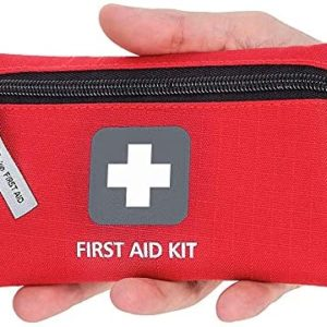 Small First Aid Kit – 66 Pieces – Small and Light Bag - Packed with Medical Supplies for Emergency, Survival, Hiking, Backpacking, Camping, Travel, Car & Cycling. Be Prepared at Home & Work